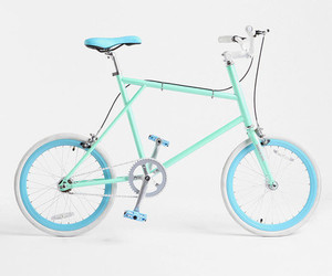 aqua, bike, and blue image