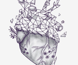 draw, heart, and simple image
