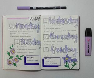 college, organized, and notes image