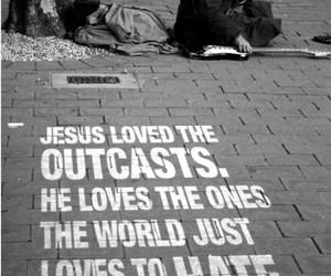 jesus, love, and outcast image
