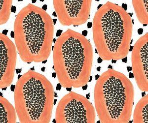 papaya, fruit, and art image
