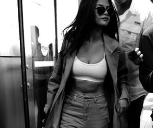 selena gomez, black and white, and celebrity image