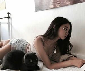animal, asian girl, and kawaii image