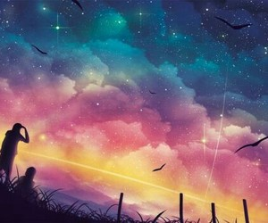 sky, stars, and wallpaper image