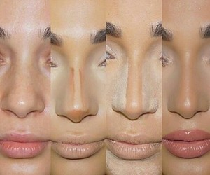 makeup, nose, and lips image