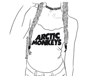 outline, arctic monkeys, and tumblr image