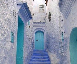 blue and door image