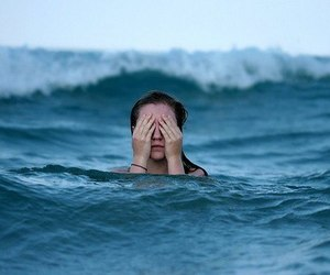 girl, sea, and blue image