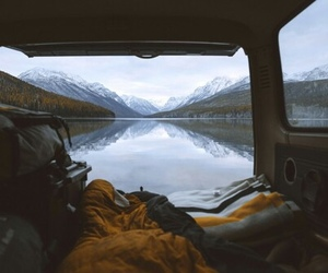 mountains, travel, and alone image