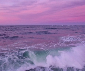 purple, ocean, and sky image