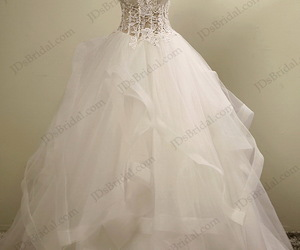 affordable wedding gown and illusion lace bodice image
