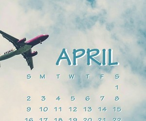 airplane, april, and clouds image