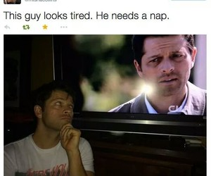 funny, twitter, and misha collins image