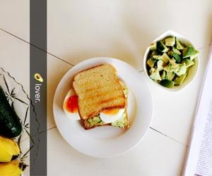breakfast, egg, and tasty image