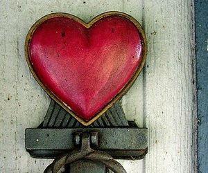 heart, door, and red image