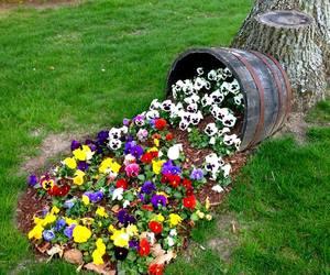 colorful, garden, and garden art image