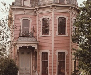 house, pink, and vintage image
