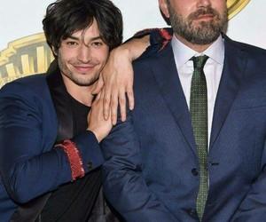 ezra miller, batman, and Ben Affleck image