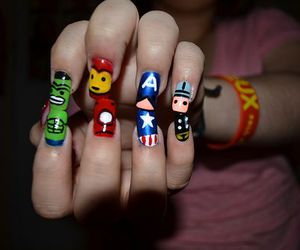 Avengers, nail art, and theavenger image