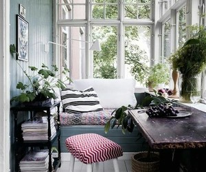 home decor, sunporch, and vintage image