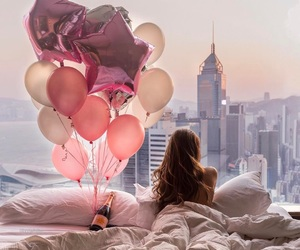 balloons, fashion, and flowers image