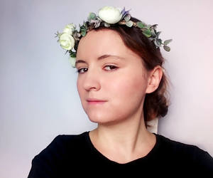 rustic wedding, wine wire wreath, and flower crown image