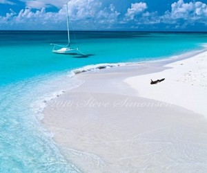 beach, travel, and white sand image