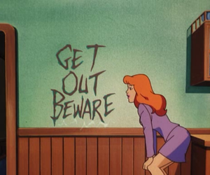 scooby doo, cartoon, and get out image