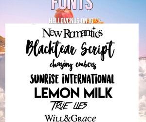 editing, fonts, and editing help image