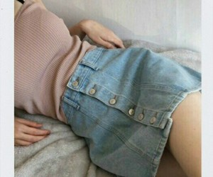 denim, fashion, and skirt image