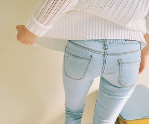 fashion, jeans, and white image