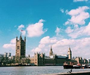 Big Ben, boat, and city image