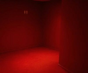 red and red room image
