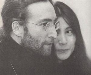 beatles, john lennon, and Yoko Ono image