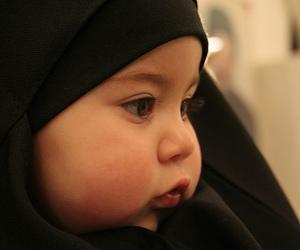 cute, baby, and hijab image