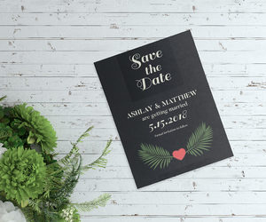 engagement, save the date card, and custom wedding image
