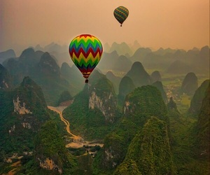 balloons, mountains, and nature image