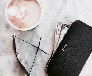 coffee, fashion, and sunglasses image
