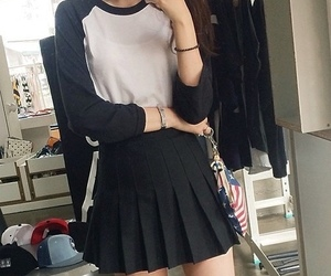 black, outfit, and tumblr image