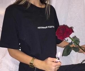 rose, girl, and grunge image