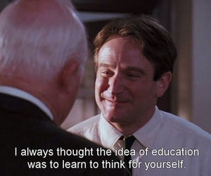 education, dead poets society, and quotes image