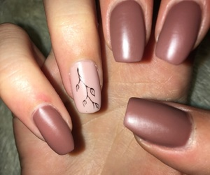 brown, nails, and spring image