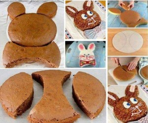 diy, cake, and bunny image