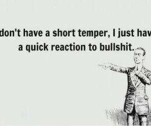 bullshit, quote, and temper image