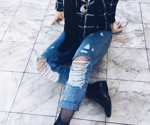 black, girl, and mom jeans image