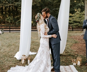 kiss, love, and bride image
