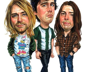 grunge, kurt cobain, and rock art image