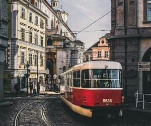 city, europe, and tram image
