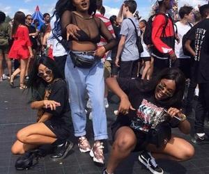 squad, style, and black girls image