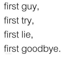lies, guy, and goodbye image